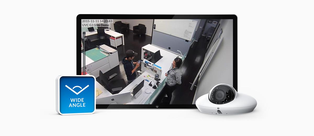 Billede der viser overvågnings muligheder med et wide angle kamera